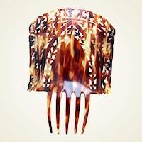 Spanish mantilla hair comb celluloid faux tortoiseshell headpiece