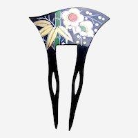 Vintage Japanese hair comb kanzashi floral design hair ornament
