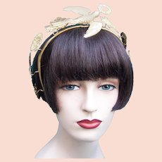 Victorian tiara with dove in flight motif headdress