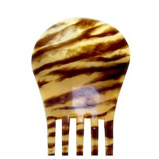 Victorian hair comb tiger stripe Spanish style hair accessory