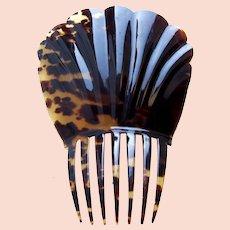 Georgian tortoiseshell hair comb Spanish mantilla style headpiece
