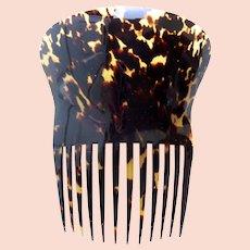 Natural tortoiseshell hair comb Spanish style hair accessory