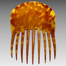 Victorian steer horn hair comb Spanish style hair accessory