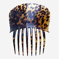 Victorian tortoiseshell hair comb Spanish style hair accessory