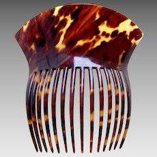 Victorian faux tortoiseshell hair comb Spanish mantilla style hair ornament