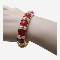 Joan Rivers signed expanding enamel rhinestone bracelet