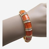 Joan Rivers signed expanding bracelet enamel and rhinestone