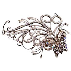 Large Indonesian rhinestone bridal hair comb hair accessory