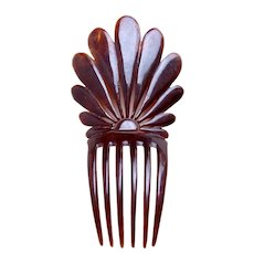 Victorian faux tortoiseshell hair comb petal design hair accessory