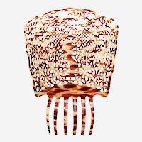 Outsized Spanish mantilla hair comb faux tortoiseshell headpiece