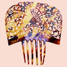 Spanish mantilla comb faux tortoiseshell hair accessory