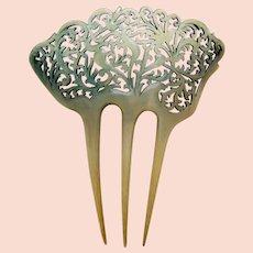 Art Deco hair comb asymmetric pierced design hair ornament