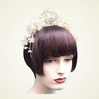 Wax orange blossom wedding bridal tiara headdress headpiece