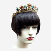 Art Deco bridal wedding tiara or theatrical headdress headpiece