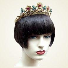 Art Deco bridal wedding tiara or theatrical headdress headpiece