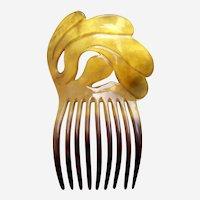 Victorian steer horn hair comb Spanish style hair accessory