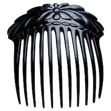 Late Victorian faux tortoiseshell classic hair comb hair accessory