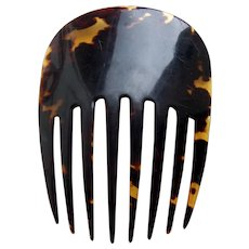 Victorian natural tortoiseshell hair comb Spanish style hair ornament
