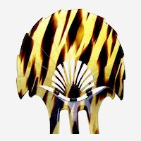 Art Deco faux tortoiseshell hair comb classic fan design hair accessory