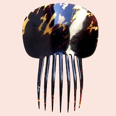 Victorian tortoiseshell hair comb classic Spanish style hair ornament