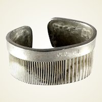 Todd Oldham signed post modernist hair comb cuff bracelet