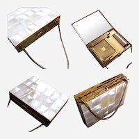 Mid Century mother of pearl carry all purses cigarette case