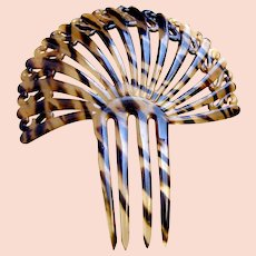 Art Deco hair comb faux tortoiseshell fan shape hair accessory