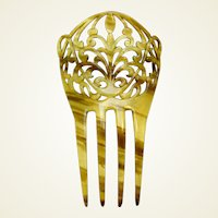 Art Nouveau hair comb interlaced design hair accessory