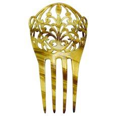 Art Nouveau hair comb interlaced design hair accessory