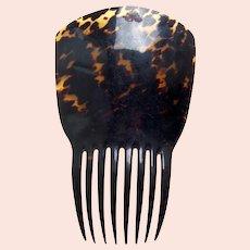 Victorian natural tortoiseshell Spanish style hair comb