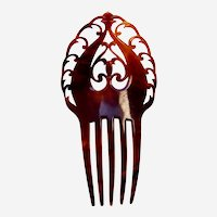 Classic late Victorian hair comb with scroll work hair accessory