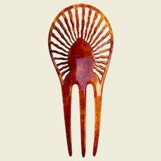 A handsome Art Deco imitation faux tortoiseshell hair comb