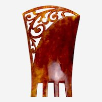Art Deco faux tortoiseshell hair comb hair ornament