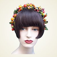 Artificial fruit theatrical or wedding wreath headdress or headpiece (AAA)