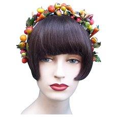 Artificial fruit theatrical or wedding wreath headdress or headpiece (AAA)