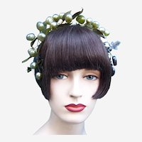 Artificial fruit theatrical or wedding wreath headdress or headpiece (AAB)