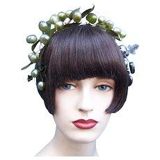 Artificial fruit theatrical or wedding wreath headdress or headpiece (AAB)