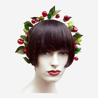 Artificial fruit theatrical or wedding wreath headdress or headpiece (AAC)