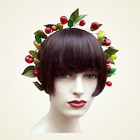 Artificial fruit theatrical or wedding wreath headdress or headpiece (AAC)