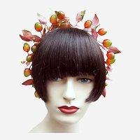 Artificial fruit theatrical or wedding wreath headdress or headpiece (AAD)