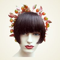 Artificial fruit theatrical or wedding wreath headdress or headpiece (AAD)