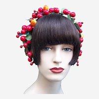 Artificial fruit theatrical or wedding wreath headdress or headpiece (AAF)