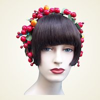 Artificial fruit theatrical or wedding wreath headdress or headpiece (AAF)