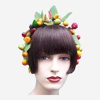 Artificial fruit theatrical or wedding wreath headdress or headpiece (AAG)