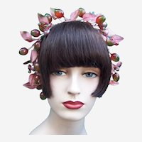 Artificial fruit theatrical or wedding wreath headdress or headpiece (AAH)
