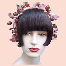 Artificial fruit theatrical or wedding wreath headdress or headpiece (AAH)