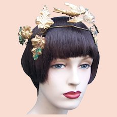 Theatrical or wedding wreath headdress or headpiece with dove