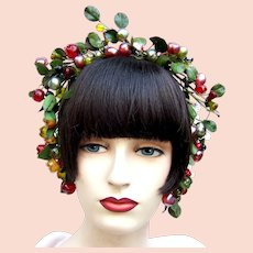 Artificial fruit theatrical or wedding wreath headdress or headpiece (AAJ)