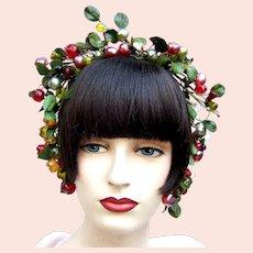 Artificial fruit theatrical or wedding wreath headdress or headpiece (AAJ)