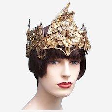Indonesian traditional wedding headdress from Java (AAD)
